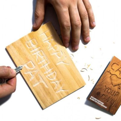 Carve Your Own Postcard Hout