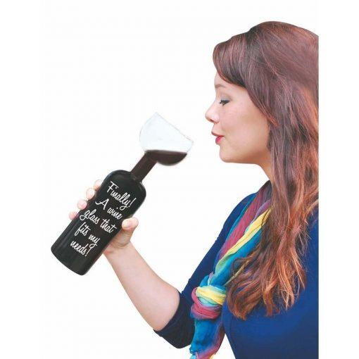 Wijnglas fles - Bottle Glass kopen glas nunet