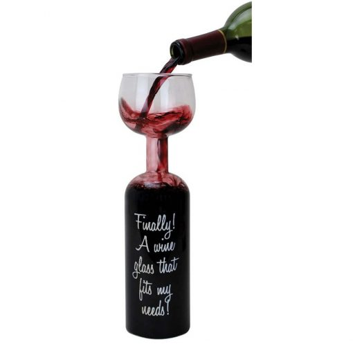 Wijnglas fles - Bottle Glass kopen nunet 1